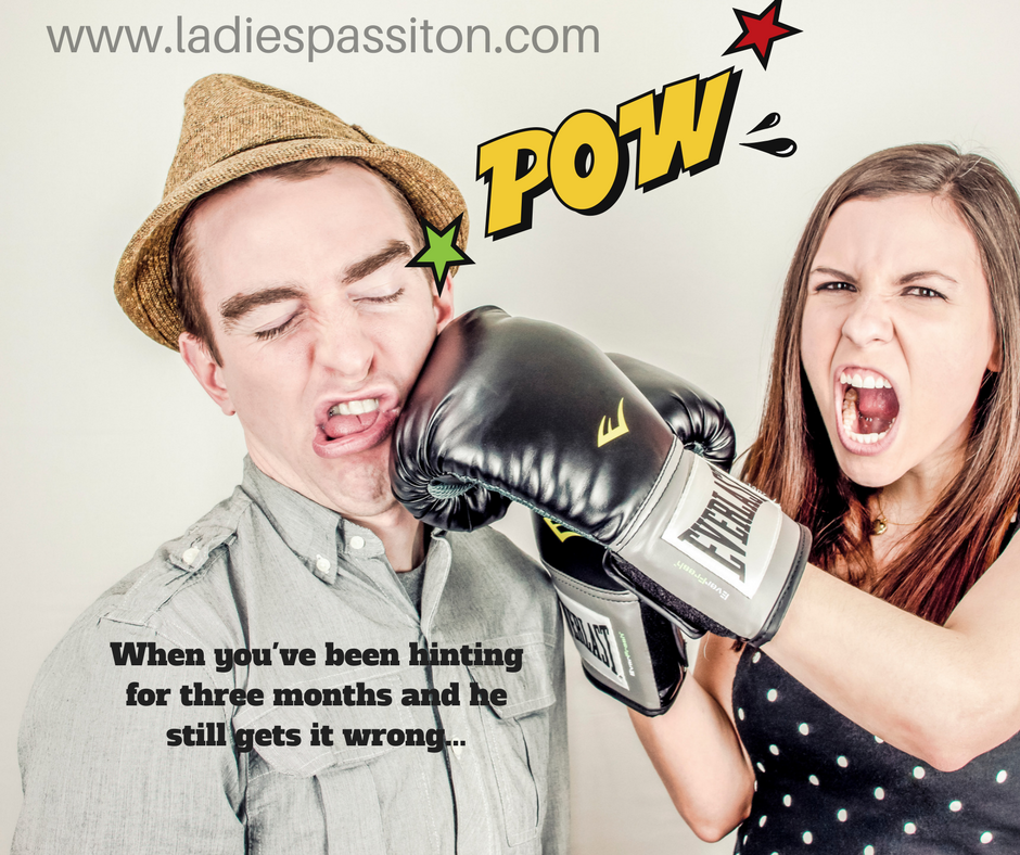 Romance funny quote, lady punching man, ladies pass it on blog