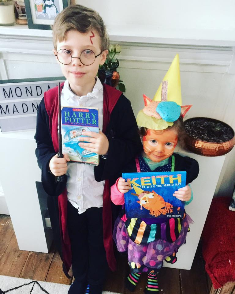 World Book day parade/ harry potter/ keith the cat